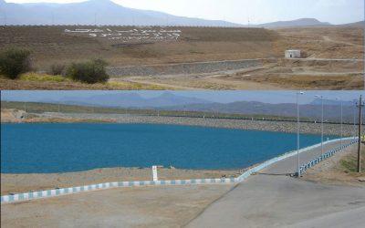 نمای سد و دریاچه